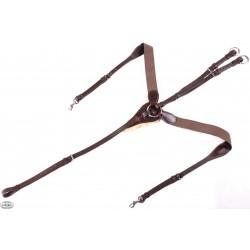 Daw-Mag Napierśnik skórzany skokowy z naturalnym futerkiem