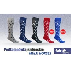 """Podkolanówki Fair Play """"MULTI HORSES"""""""