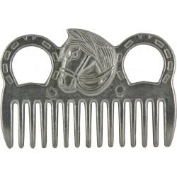 Grzebień York metalowy z końską głową