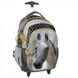 Plecak na kółkach Paso Horse złote serduszka