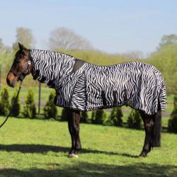 Derka York Zebra siatkowa z kapturem